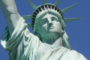 statue of liberty, landmark, close