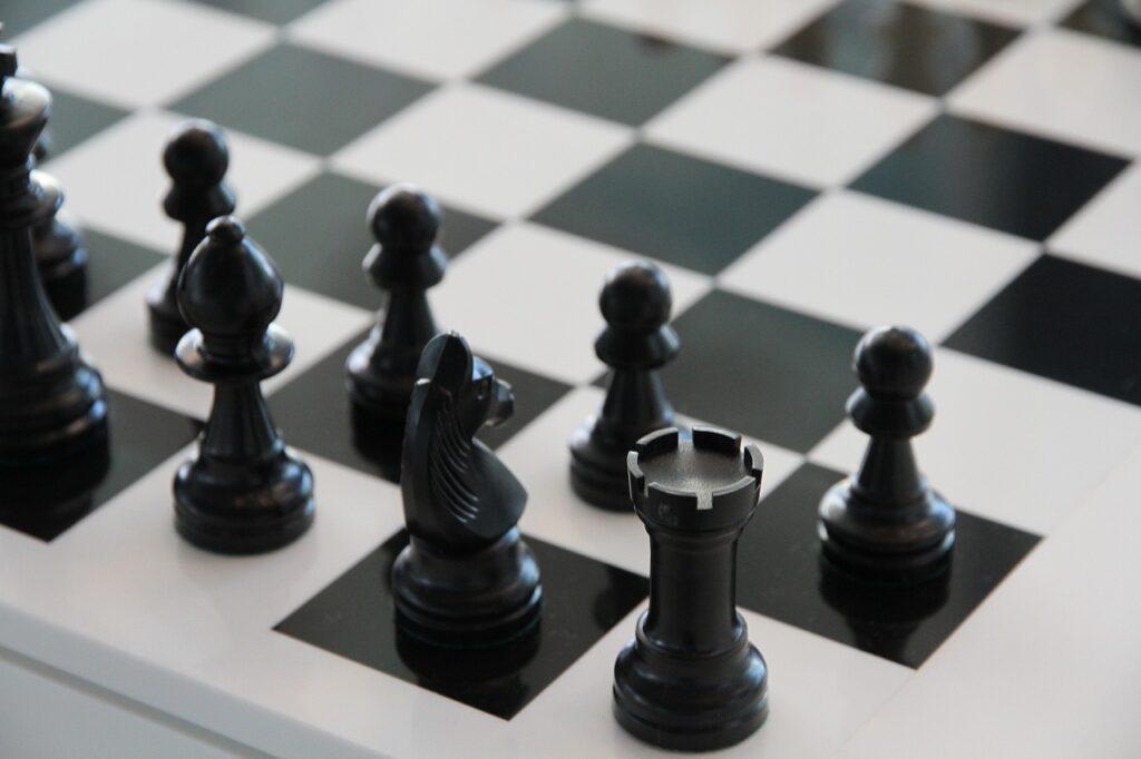 chess, chess board, black