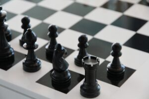 chess, chess board, black