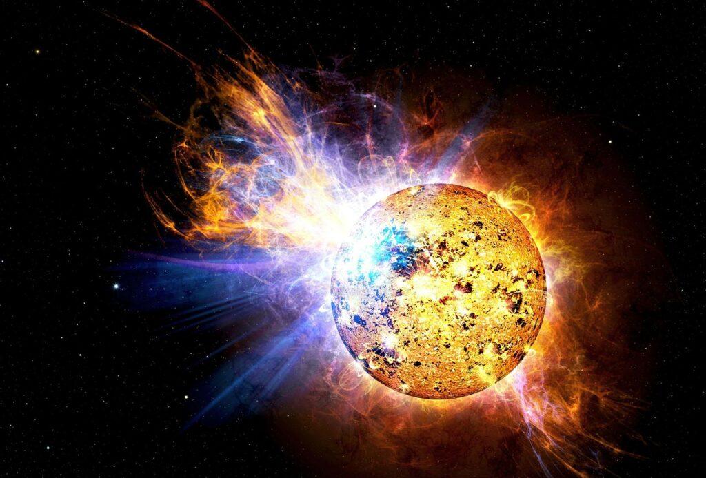 solar flare, flare, explosion